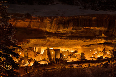 Mesa Verde lit by lateens from within